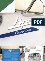 Katalóg motorovej trojkolky Piaggio Ape Calessino MY 2009 en