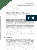 Globalization of Law