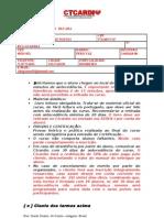 modelo de ficha de inscrição para curso de suporte básico de vida