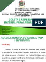 COLETA E REMESSA DE MATERIAL PARA LABORATORIO