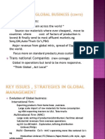 KEY ISSUES AND STRATEGIES IN GLOBAL MGMT