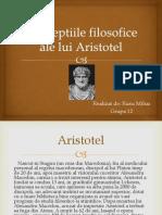 Conceptiile filosofice ale lui Aristotel
