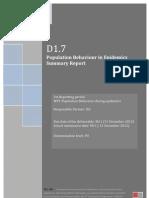 D1.7 Population Behaviour in Epidemics Summary Report