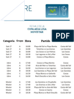 Fixture Primera Fecha Torneo Asialiga Movistar