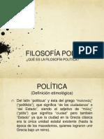 ¿Qué es filosofía política?