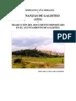 ORDENANZAS DE GALISTEO
