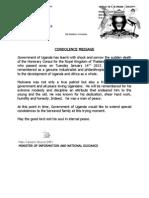 James Mulwana eulogy by Uganda's Gouvernement