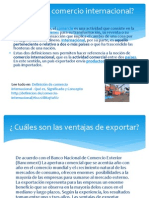 Presentación Introducción a Comercio Internacional
