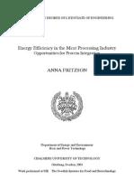 Energy Efficiency in Meat Processing