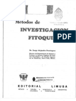 metodos de investigacion fitoquimica
