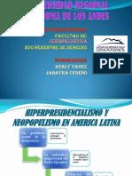 HIPERPRESIDENCIALISMO Y NEOPOPULISMO EN AMERICA LATINA
