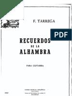 Recuerdos de la Alhambra - Tarrega