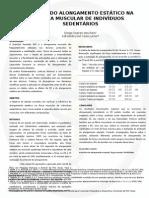 Efeitos do alongamento estático em indivíduos sedentários
