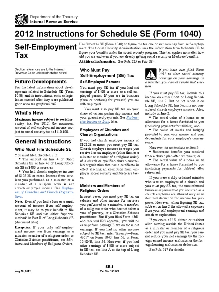 Irs 2012 Form 1040 Instructions Image collections - form 1040 ...