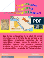 Mate Matic a Sen Egipto y Mesopotamia