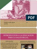 INTRODUCCION A LA EDUCACIÓN PARA LA SALUD BUCAL