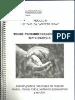 Mod. II Ley de Protección de Víctimas de Violencia Familiar 7403/06  Min. DDHH