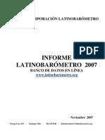 Latinobarómetro 2007
