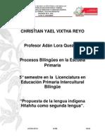 Proyecto para la enseñanza del hñahñu cómo segunda lengua