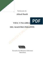 Alfred Haehl - Vida y Palavra del Mestre Phillippe