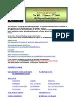 Mental Health Bulletin No 192 February 9th 2009