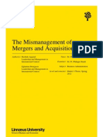 mergers and acquisitions mismanagement