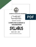 Mtech Nagarjuna University Syllabus