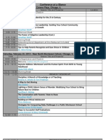 AIMS 2013 Conference at a Glance as of 2013/1/15