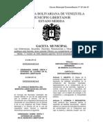 ORDENANZA VENTA DE LICORES