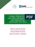 Declaraciones Informativas (Anuales) 2012