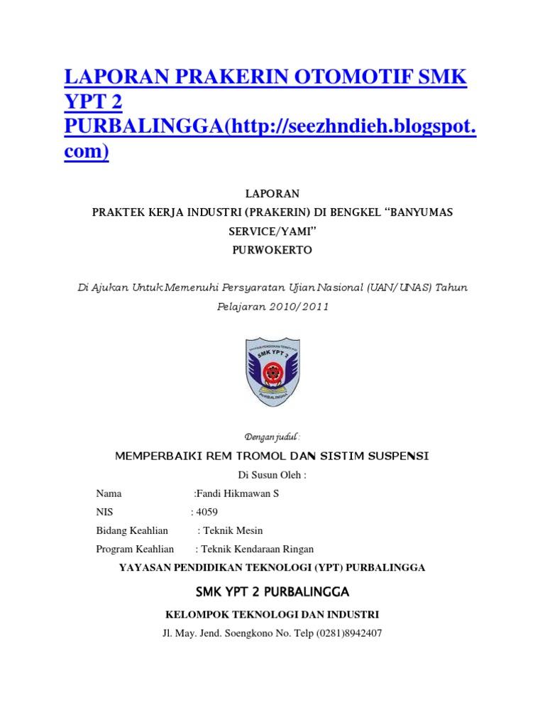 Contoh Daftar Pustaka Laporan Pkl Otomotif Materi Pelajaran 2