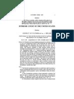 District of Columbia v. Heller Supreme Court Case