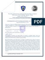 UNIFORM RULE OF NATURALIZATION ACT OF 2013