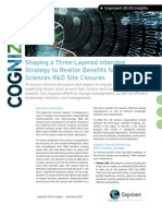 Shaping a Three-Layered Intended Strategy to Realize Benefits for Life Sciences R&D Site Closures