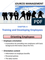 Human Resource Management (Training and Developing Employees)