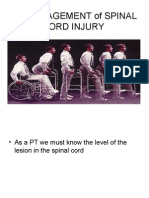 Pt Management of Spinal Cord Injury