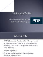 basics of CRM