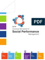 Universal Standards on Social Performance Management