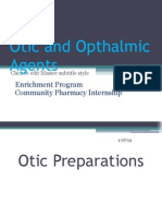 otic and ohthalmic agents