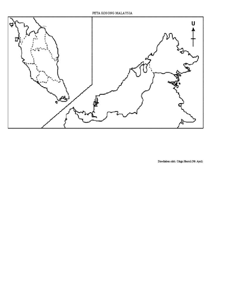 Peta Malaysia Dan Peta Dunia Kosong