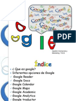 Diferentes opciones de Google