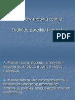 Maslow motyvų teorija