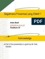 Cara Presentasi yang Efektif