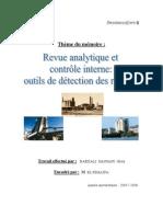 Revue analytique et contrôle interne  outils de détection des risques