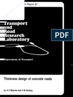 TRRL-Research Report 87-Thick Design of Concrete Roads