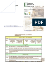 2º Congreso Nacional de Enfermería en Plasencia. 17, 18 y 19 de Abril del 2013. Pre-Programa definitivo (word)