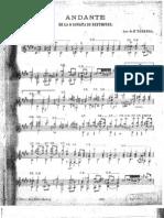 Andante de la sonata 9 de Beethoven op 47 Kreutzer in A  - tarrega -guitare