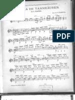 Marcha de Tannhäuser de R. Wagner - tarrega -guitare