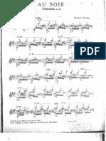 Au soir Schumann Op. 12