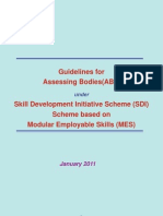 Guidelines for Assessing Bodies(ABs) under Skill Development Initiative Scheme (SDI)